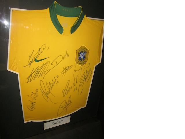 2006 Brazil hand signed replica shirt