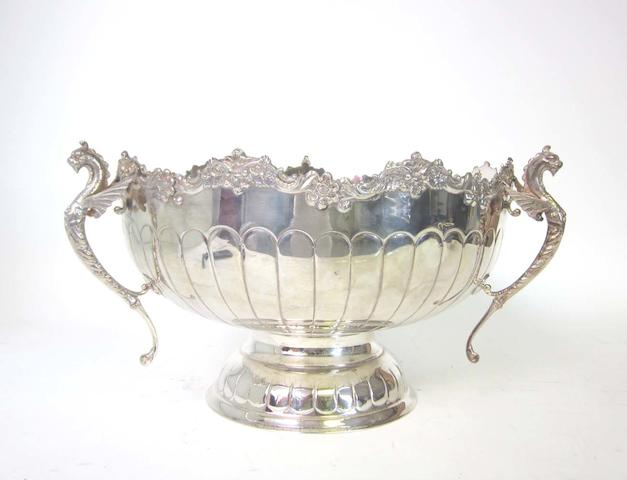 A set of four electroplated  entrée dishes and covers and various other items  (17)