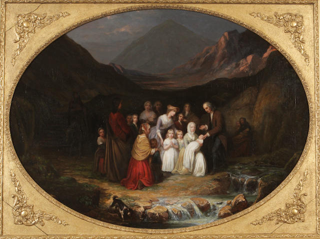 Circle of Sir George Harvey, (19th century) The Convenanters' Christening