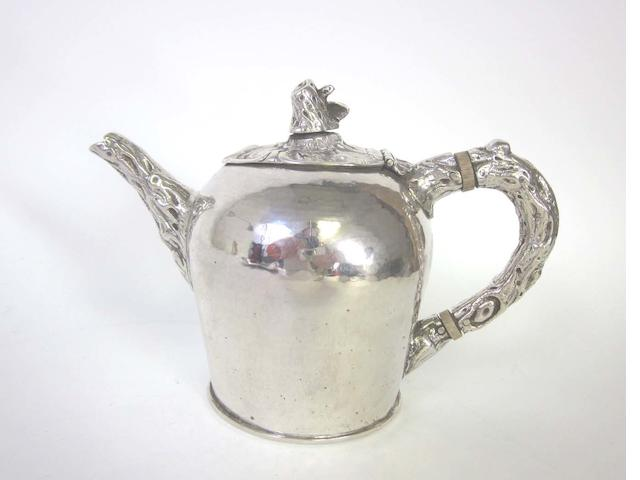 A George III silver teapot by William Abdy II, London 1791