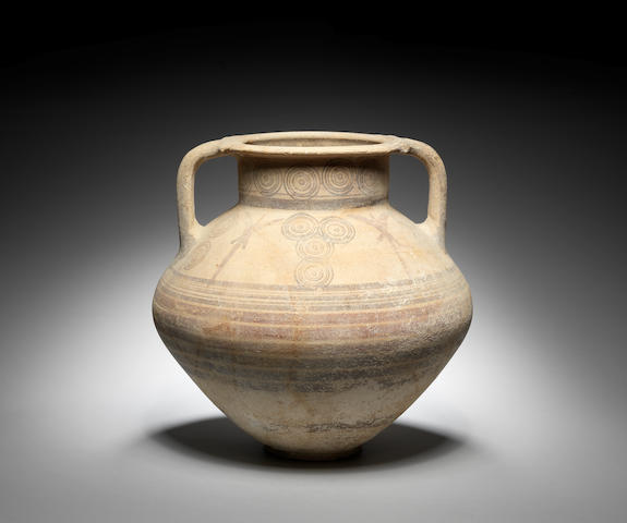 A Cypriot bichrome ware pottery amphora