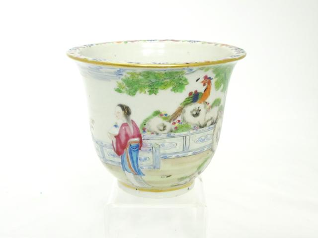 A small famille rose jardinière Mid 19th century