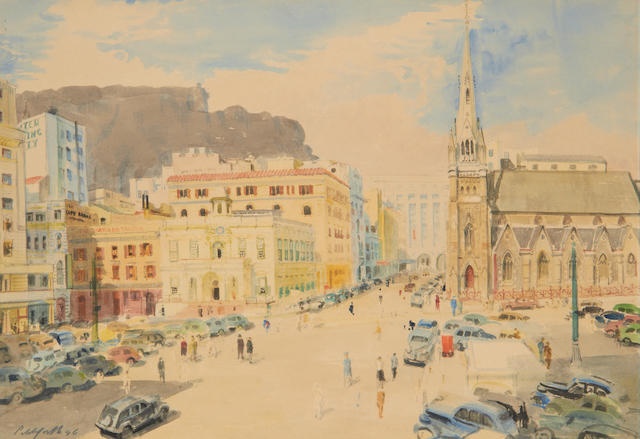 Roland Vivian Pitchforth (British, 1895-1982) Centre City, Cape Town
