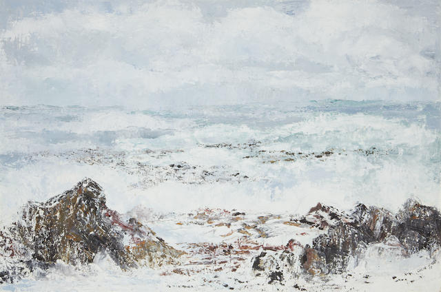 Cecil Higgs (South African, 1900-1986) Sea landscape
