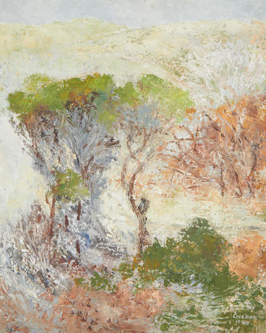Cecil Higgs (South African, 1900-1986) Landscape with trees
