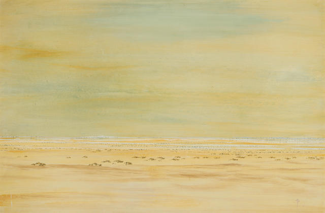 Jan Buys (South African, 1909-1985) Beach landscape
