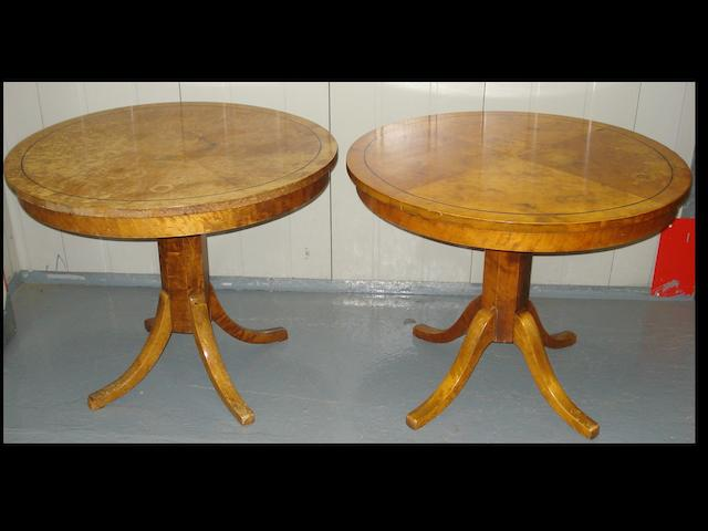 A pair of decorative modern centre tables,