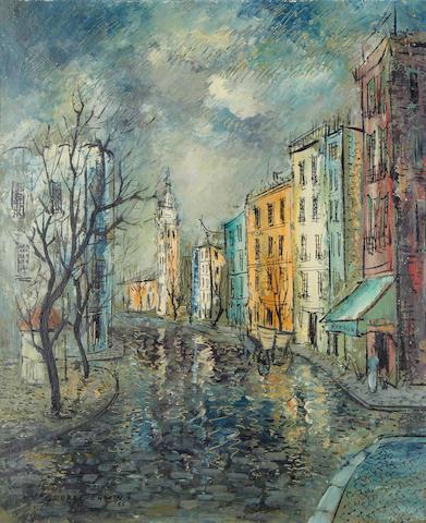 George Enslin (South African, 1919-1972) Seville street scene