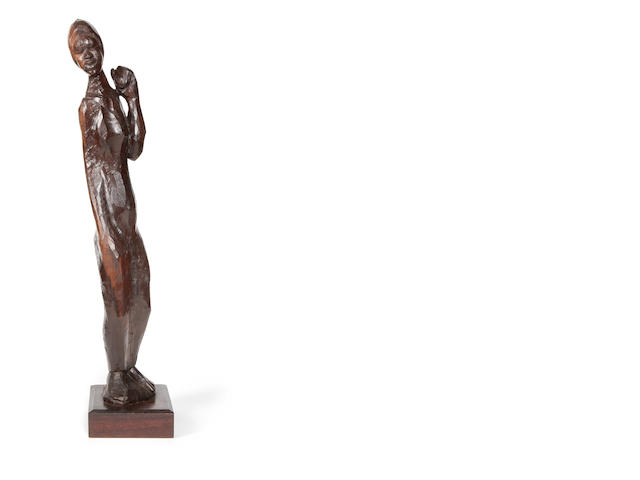 Michael Gagashe Zondi (South African, born 1926) Statue of a woman