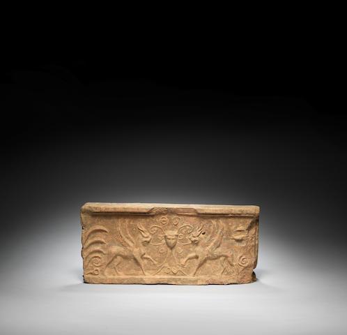 A Roman terracotta relief