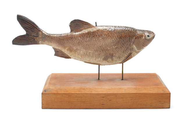 Wallace Martin a Rare Stoneware Model of a Fish on Stand, circa 1890