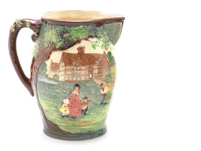 Doulton Burslem 'The Regency Coach' a Commemorative Jug, 1931