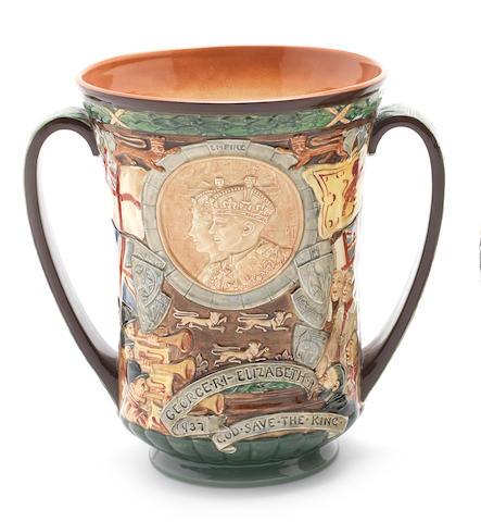 Doulton Burslem 'George VI Coronation' a Loving Cup, 1937