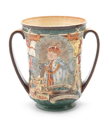 Doulton Burslem 'Coronation of Edward VIII' a Loving Cup, 1937