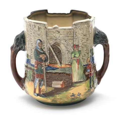 Doulton Burslem 'A Wandering Minstrel' a Loving Cup 1934