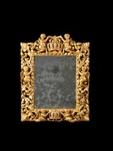 A Charles II giltwood mirror