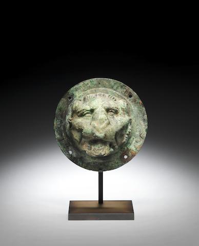 A Roman bronze protome