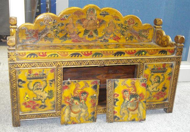 A painted Tibetan storage chest,