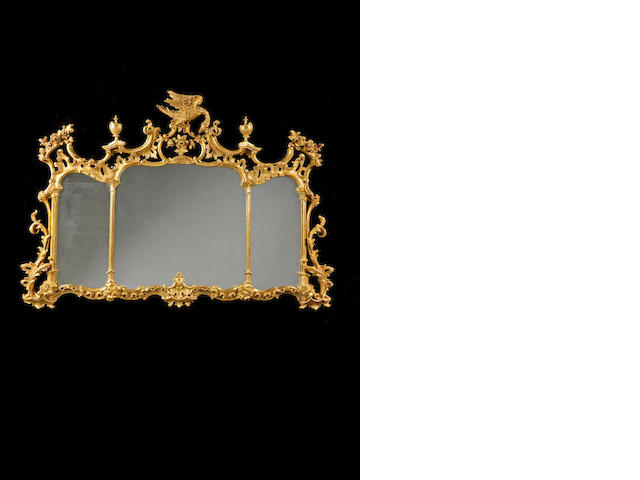 George III carved giltwood landscape mirror
