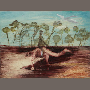 Sidney Nolan (Australian, 1917-1992) Figure and camel