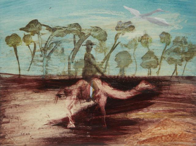 Sidney Nolan (Australian, 1917-1992) Figure and camel
