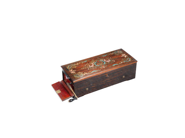 An exceptional key-wind quatre-overture hooked-tooth musical box, by Nicole Freres, circa 1854,