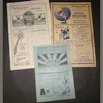 1932/33 and 1933/34 Barnsley away programmes