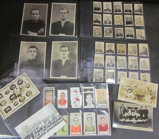 A collection of Barnsley cigarette/post cards