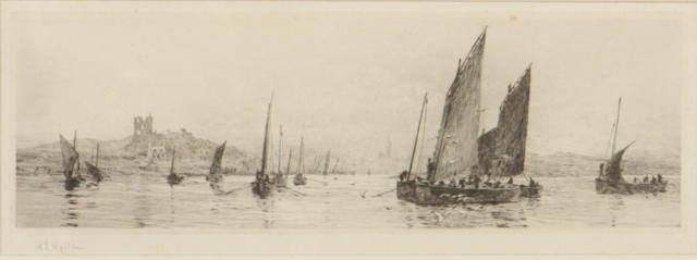 William Lionel Wyllie (British, 1851-1931) Loch Tarbert