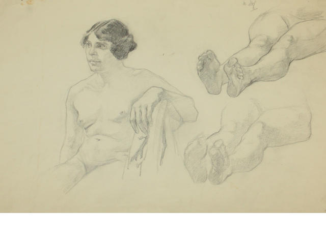 Mary Armour, RSA RSW (British, 1902-2000) A group of eight life drawings