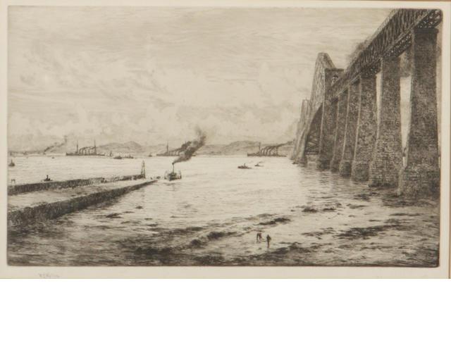 William Lionel Wyllie (British, 1851-1931) The Forth Bridge