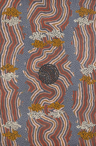 Clifford Possum Tjapaltjarri (Aborigine, circa 1932-2002) Water Dreaming
