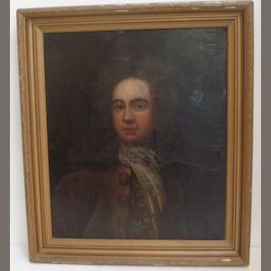 English School Portrait of Roger Wilson of Casterton, Recorder of Kendal 1757-1766, 59 x 50cm.