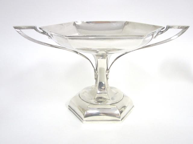 A  silver   two handled comport by Walker and Hall,  Sheffield 1926