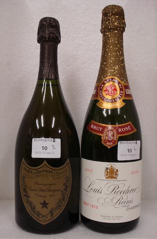 Louis Roederer Brut Rosé 1975 (1)<BR />Dom Pérignon 1976 (1)