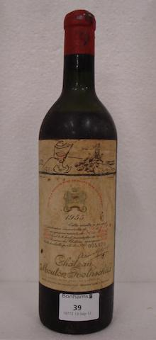 Chateau Mouton Rothschild 1955 (1)