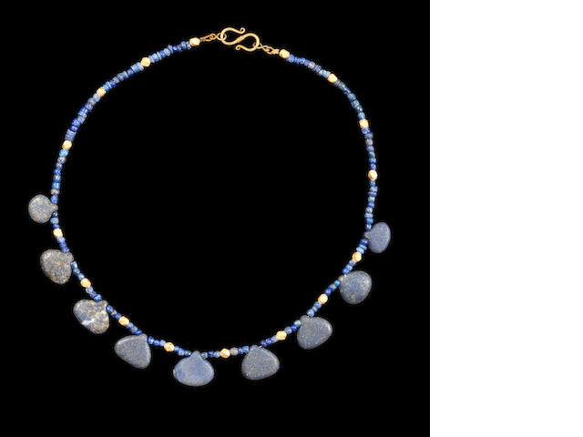 Bactrian gold and lapis necklace