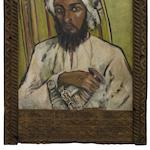 Freida Lock (South African, 1902-1962) Portrait of a sheikh, Zanzibar within original Zanzibar frame