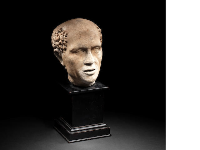A Roman marble portrait head of a man