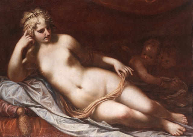 Workshop of Lorenzo Pasinelli (Bologna 1629-1700) Venus with Putti