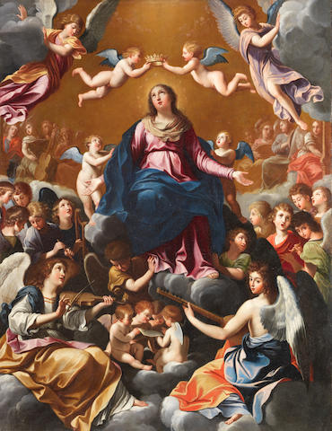 After Guido Reni, 17th Century The Coronation of the Virgin unframed