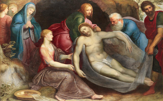 Otto van Veen (Leiden 1556-1629 Brussels), 16th Century  The Entombment