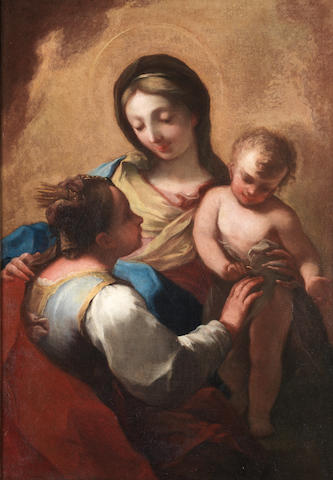 Bolognese School, late 17th Century The Mystic Marriage of Saint Catherine