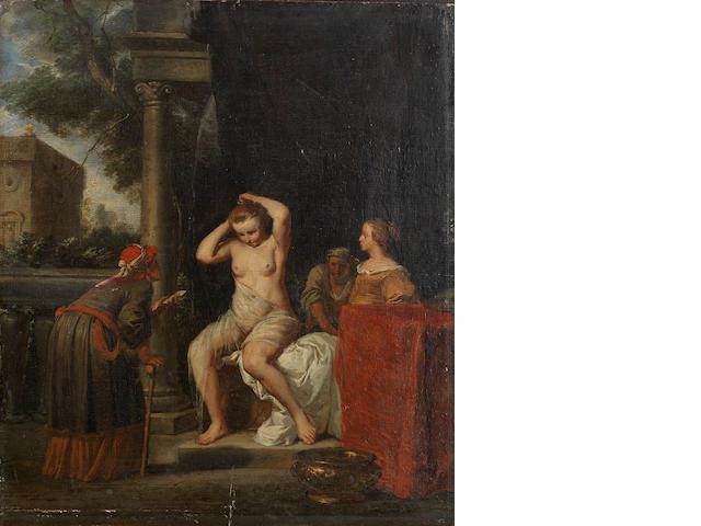 Jan De Bray (Haarlem circa 1627-circa 1697 Amsterdam) Bathsheba bathing