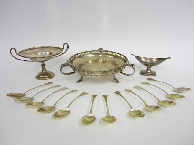 A George V silver bowl London 1917