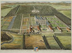 After Johannes Kip and Leonard Knyff A group of eight engravings with hand colouring of Country House Subjects