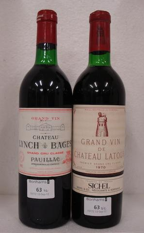 Chateau Latour 1970 (1)<BR />Chateau Lynch-Bages 1982 (1)