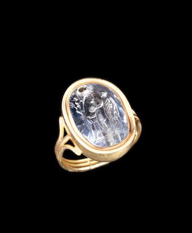 A Roman sapphire intaglio