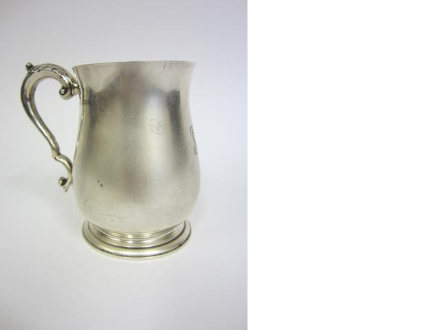 A George V silver tankard London 1930