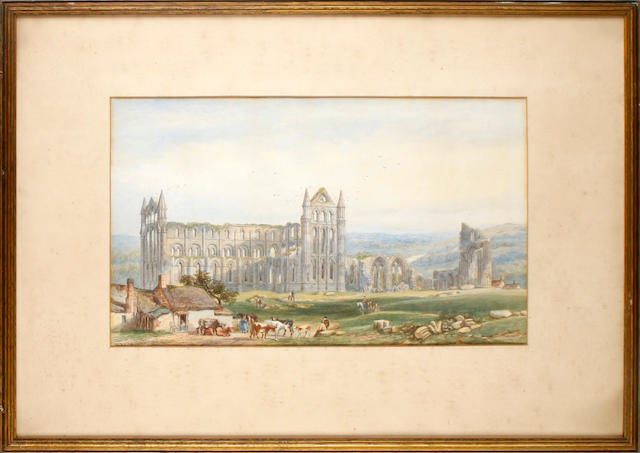William Richardson (British, 1842-1883) Whitby Abbey; Melrose Abbey; a pair